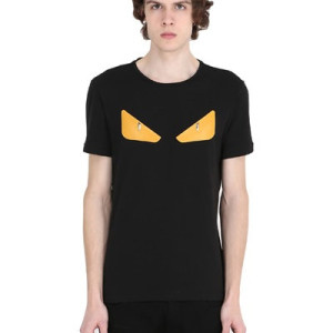 Fendi monster studded tee black