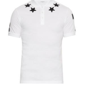 Givenchy classic star polo white