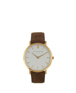 LJ white gold leather brown